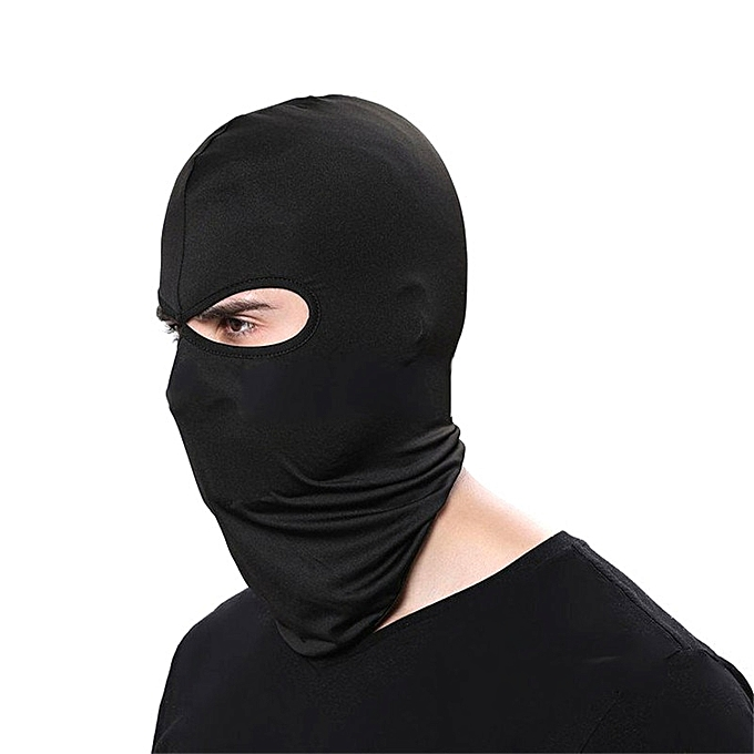 Autre Outdoor Sports Motorcycle Face Mask Winter Warm Windproof Breathable Ski Snowboard Wind Cap Police Cycling Balaclavas Face Mask( noir) à prix pas cher