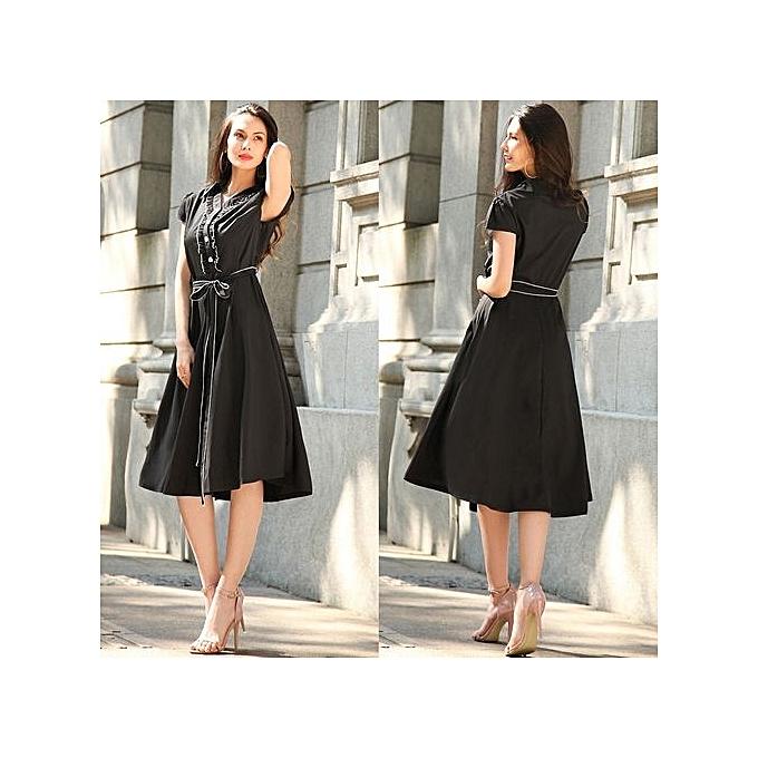 Generic Hight Quality  Office Ladies 2017  Autumn New Elegant  femmes Burgundy Bodycon Dress Sleeveless Pencil Dress femme's Dress02-noir à prix pas cher
