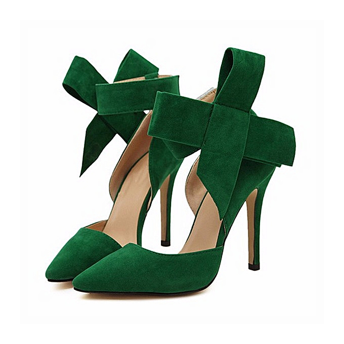 Fashion Fashion Sexy Butterfly Knot Removable Slim Pointed Toe High Heel Stilettos Pumps femmes à prix pas cher    Jumia Maroc
