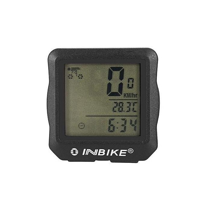 UNIVERSAL Waterproof Backlight Cycling Bike Bicycle Computer Bicycle Speedometer Odometer bleu à prix pas cher