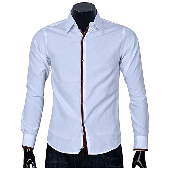 Fashion Fashion Mens Luxury Long Sleeve Tops commerce  stripe shirts WH L à prix pas cher