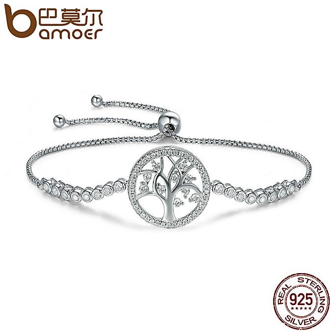 Women Bracelet AAA CZ 925 Sterling Silver life Tree Jewelry