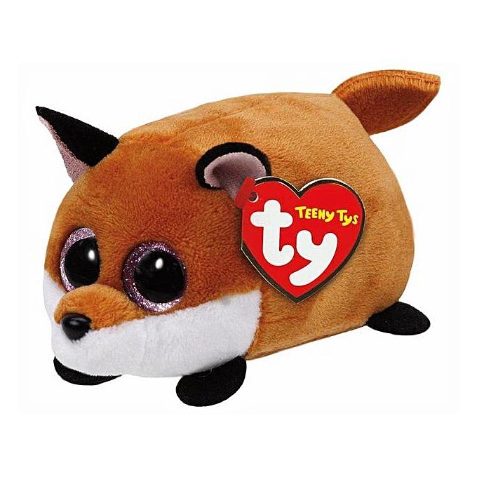 Autre Ty Teeny Tys 4&10cm Curly Pig Owl Unicorn Dog Cat Lion penguin Husky Fox Plush Stuffed Animal Collectible Soft Big Eyes Doll Toy(Dark Khaki) à prix pas cher