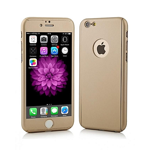 commandez universal coque de protection 360 ecran incassable pour iphone 6 et 6s gold prix. Black Bedroom Furniture Sets. Home Design Ideas