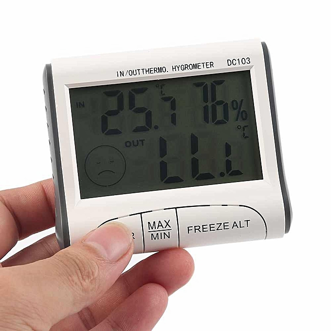 Other Electronic Digital Hygrometer Humidity Thermometer Temperature Meter Monitor (blanc) LJMALL à prix pas cher