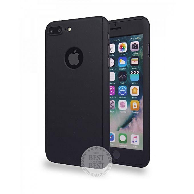 coque protection 360 noir pour iphone 7 plus verre incassable t l phones tablettes jumia. Black Bedroom Furniture Sets. Home Design Ideas