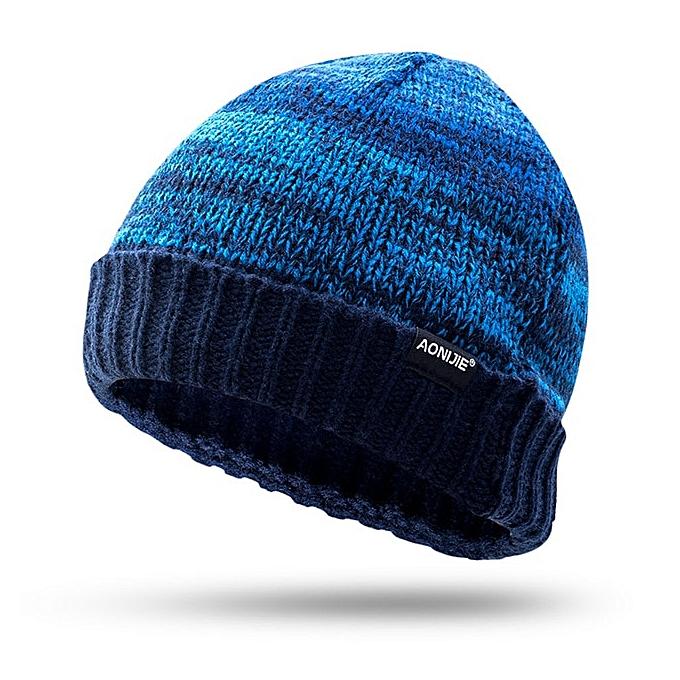 AONIJIE men femmes knitted hat High-Quality autumn winter running hikking traveling caps Warm breathable male female cap(Dark bleu) à prix pas cher
