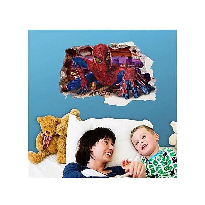 Generic Sticker Décoratif Enfant, SPIDER homme à prix pas cher