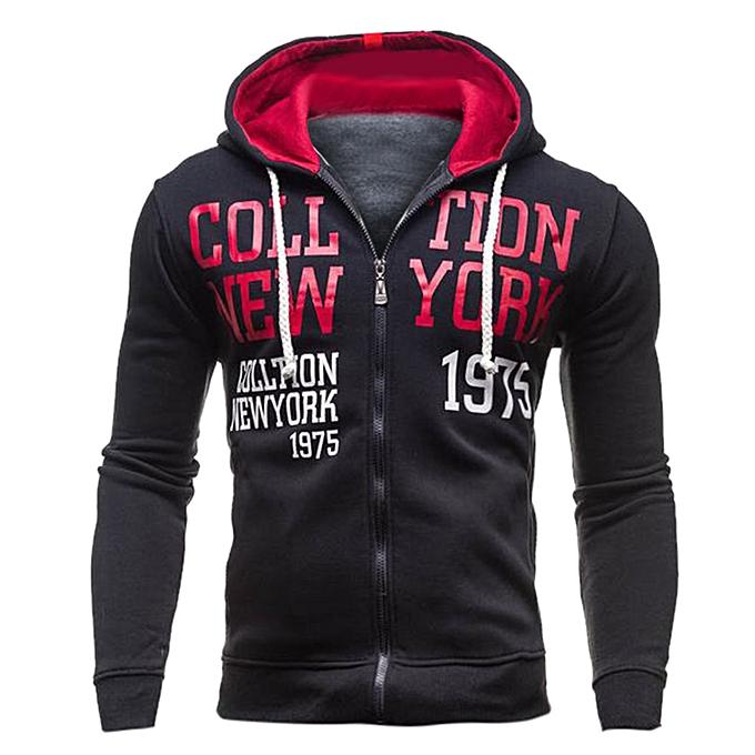 mode Hommes& 039;s Autumn And Winter nouveau encapuchonné Zipper chandail mode Trend chemisier -rouge à prix pas cher