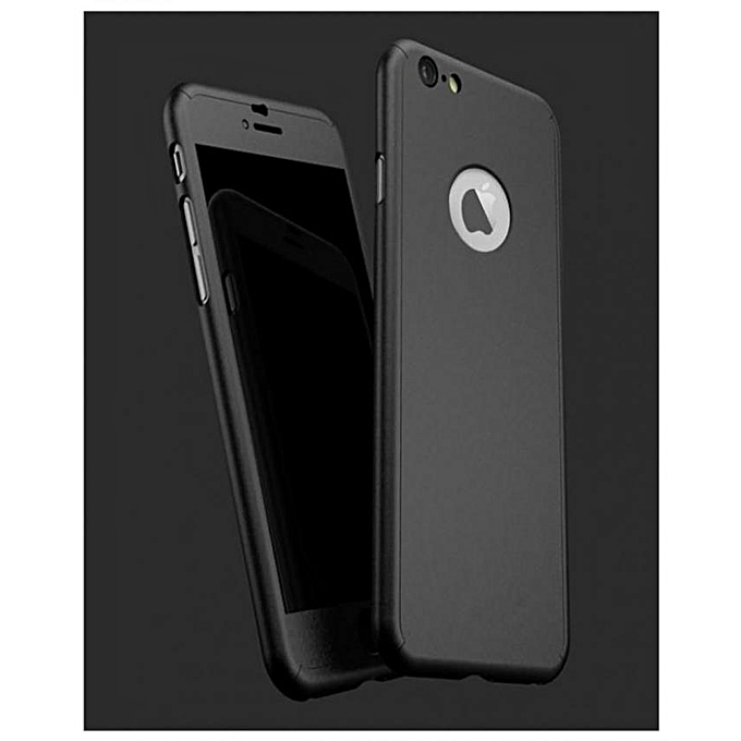 fashion case coque protection 360 noir pour iphone 6 verre incassable au maroc pas cher. Black Bedroom Furniture Sets. Home Design Ideas