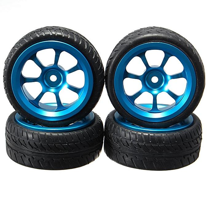 OEM 4Pcs bleu RC voiture Rims & Tires Wtalons For 1 18 WLtoys A959-B A979-B A959 A969 à prix pas cher