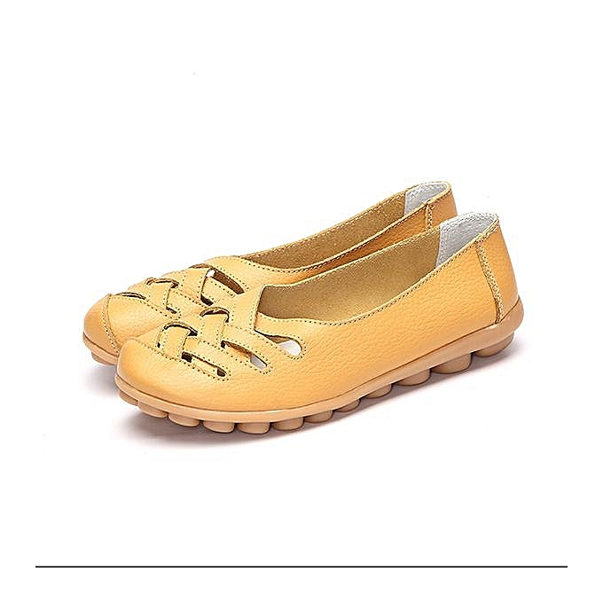 Fashion femmes Casual Genuine Leather Slip on Loafers Moccasin Flats Boat Oxfords chaussures à prix pas cher    Jumia Maroc