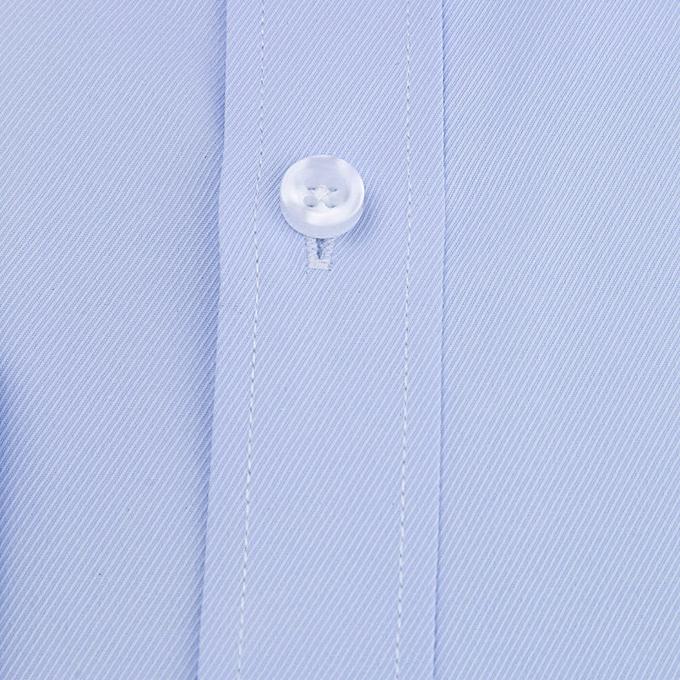 Fashion Men's Solid Couleur Twill Long Sleeve Business Formal Shirts Clothing Blouse BU 37 à prix pas cher