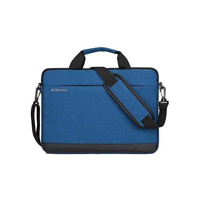 Fashion 14 inch Men's Business Laptop Bag Lady Shoulder Notebook Bag-bleu à prix pas cher