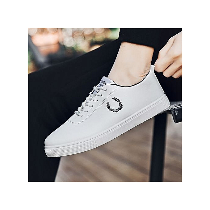 OEM New canvas low hommes chaussures small blanc chaussures casual chaussures Korean version of breathable increased chaussures-blanc à prix pas cher