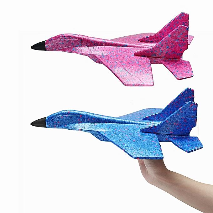 UNIVERSAL 44cm EPP Plane Toy Hand Throw Airplane Launch Flying Glider Outdoor Plane Model -bleu à prix pas cher