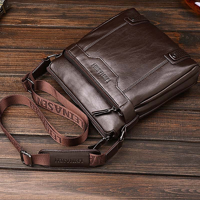 Other Vintage Cross Body Crossbody Shoulder For Male Messenger Bag Men Handbag And Purse Set Document Sac A Main Bolsas Bolsas Satchel(Dark marron) à prix pas cher
