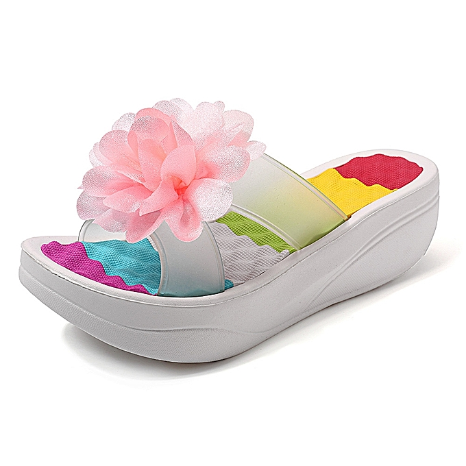 Fashion femmes Summer Slippers Flip Flops Platform Floral chaussures à prix pas cher    Jumia Maroc
