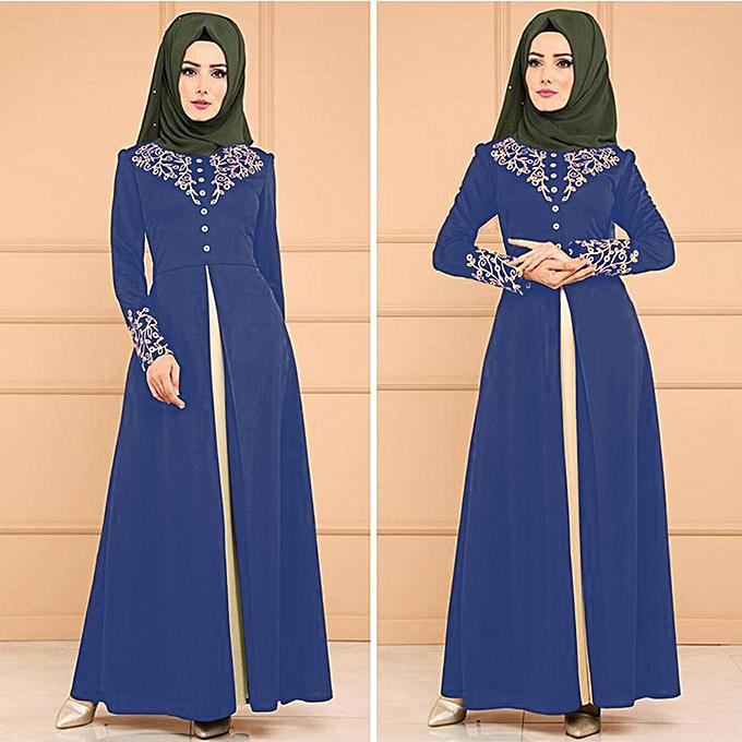 Fashion (Xiuxingzi) MyBatua Abaya Dress  Jilbab Islamic Clothing Maxi Muslim Dress Burqa à prix pas cher