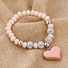 Bracelet pour femme - Bracelets crystal brillant avec la forme de coeur -  les accessoires de c3ef97aecb1e