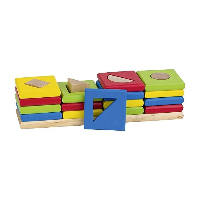 GOKI Les 4 tours, assortir les formes et les couleur à prix pas cher