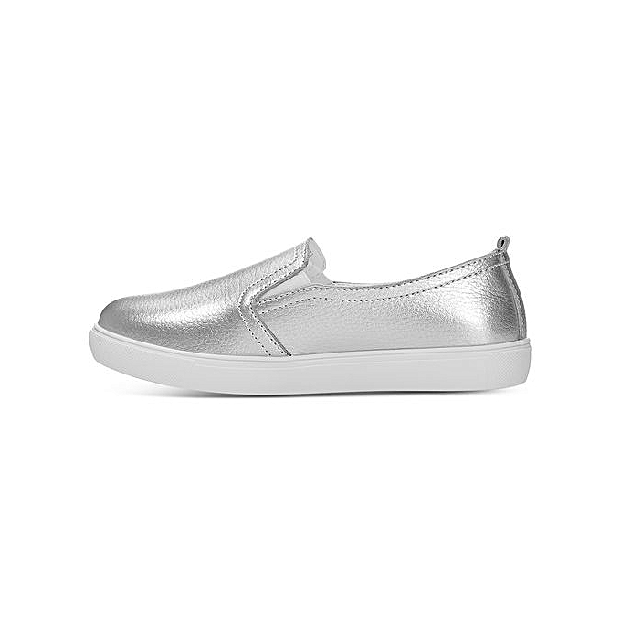 Fashion Fashion Casual Round Toe Solid Solid Solid Color Platform Flat Loafers - SILVER à prix pas cher  | Black Friday 2018 | Jumia Maroc d98baa
