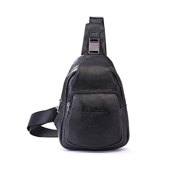 Fashion Retro Men Casual Outdoor Sport Genuine Leather Chest Bag Crossbody Bag à prix pas cher