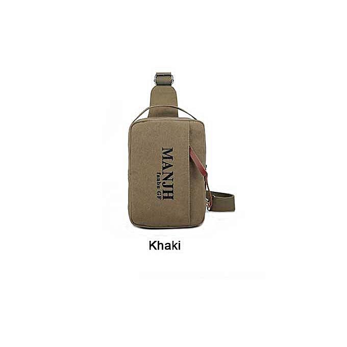 Other Fashion Canvas Uni Canvas Chest Back Pack Designer Brand Crossbody Men femmes Shoulder Messenger Bag Single Shoulder Back Pack(Khaki) à prix pas cher