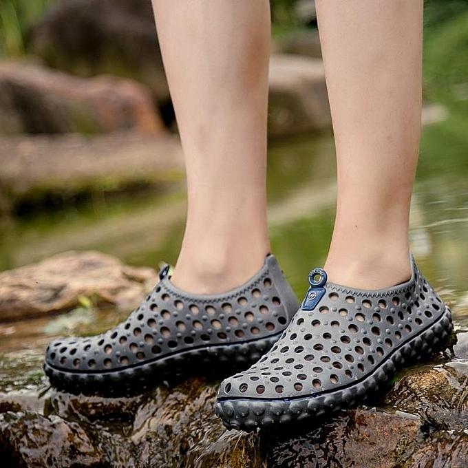 Fashion Sandals & Beach chaussures Men 2017 New Arrived Fashion Durable Slip-On Casual gris à prix pas cher
