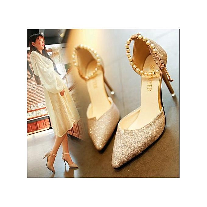93f0d4d73485cc Chaussures De Mariage De Qualité Supérieure à Talons Hauts En Soirée Argent  Chaussures De Mariée-