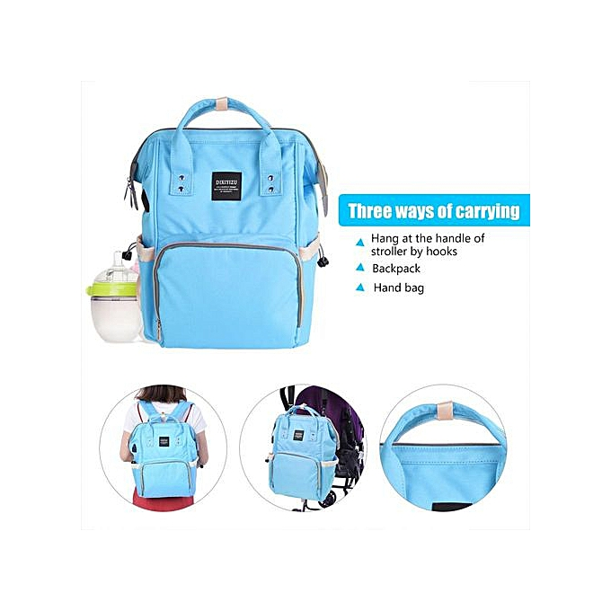 Other grand capacité Mummy Maternity sac à dos Multi-functional   Diaper sac With USB Port (bleu) à prix pas cher