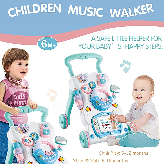 Autre Baby Walker Multifuctional Toddler Walker Sit-to-Stand Learning Walker Toys Activity Walker for Baby Kids à prix pas cher