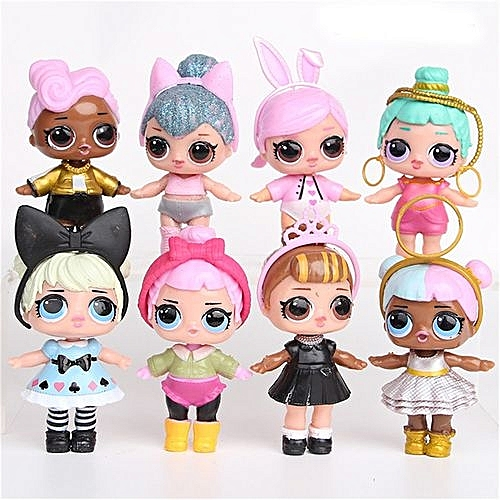 Eissely A Set 8 Pcs Lol Surprise Doll Surprise Mystery Xmas Toy