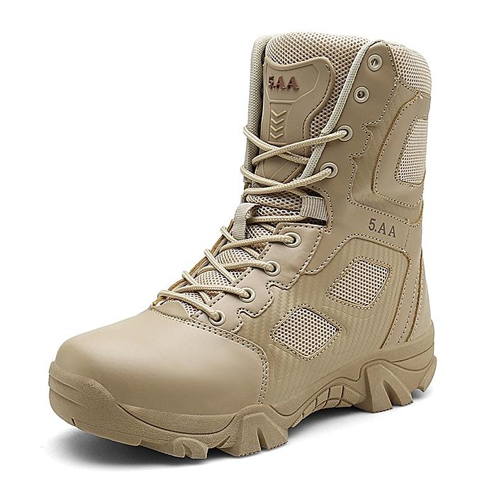 Fashion Men's tube bottes outdoor tactical bottes - khaki à prix pas cher