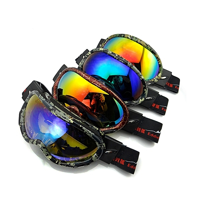 UNIVERSAL Electroplating Anti Fog Ski Goggles Fitted With Glasses Windproof Waterproof Climbing Goggles à prix pas cher