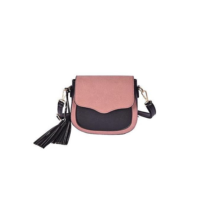 mode Singedan nouveau mode femmes cuir Shoulder sac Retro sac à dos Satchel -rose à prix pas cher