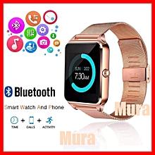 79185cad7 Montre Connectée GT08 Smart Watch de LUXE Doré, Bracelet En Acier  inoxydable - Bluetooth,