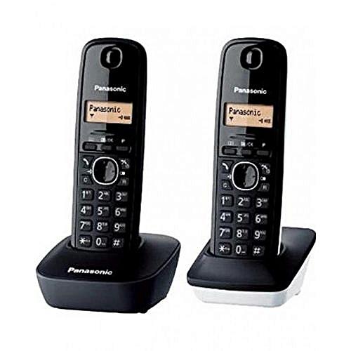 25f904d6941983 Commandez Panasonic Téléphone Fixe Sans Fil KX-TG1612 Duo - Noir à ...