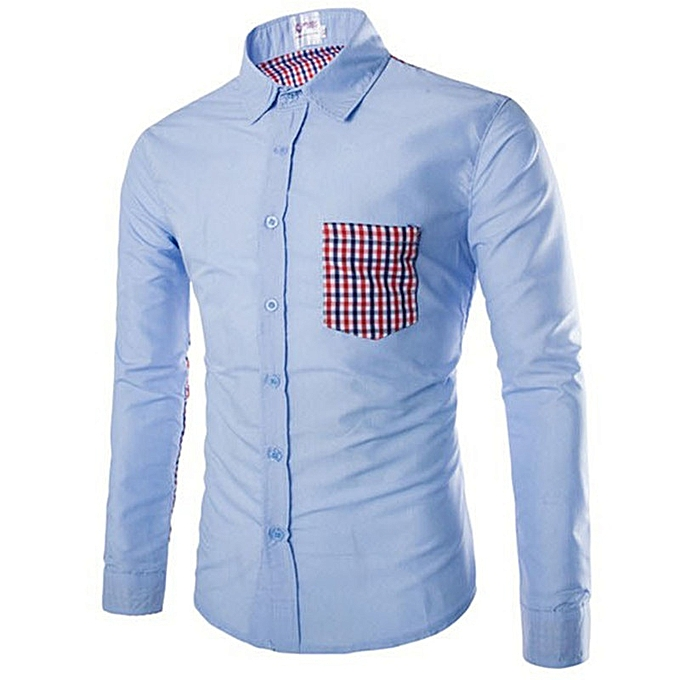 Other New Stylish Spring Summer Men's Plaid long-sleeved Shirt à prix pas cher