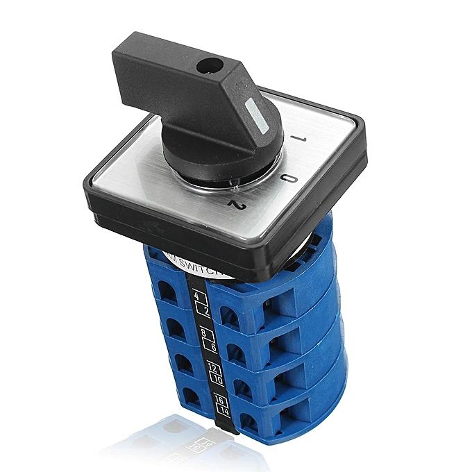 UNIVERSAL 32A Plastic Electric Motor Reversing Change Switch 4 Pole Single 3 Phase à prix pas cher