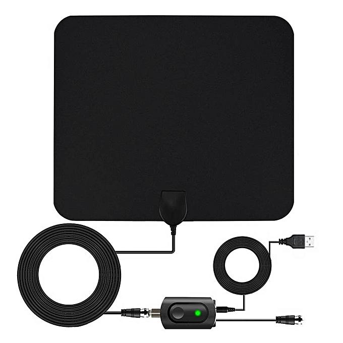 UNIVERSAL AN-1002 5dBi 25dBi Indoor HDTV Antenna with Sucker, VHF170-230 UHF470-862MHz(noir) à prix pas cher