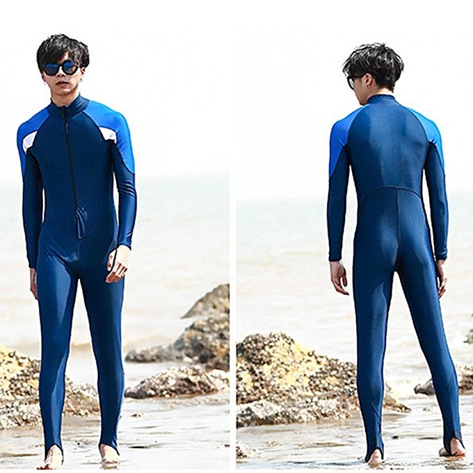UNIVERSAL Men One-piece Long Sleeve Snorkeling Wetsuit Sunscreen Full Body Swimwear Diving Suit, Taille  3XL à prix pas cher