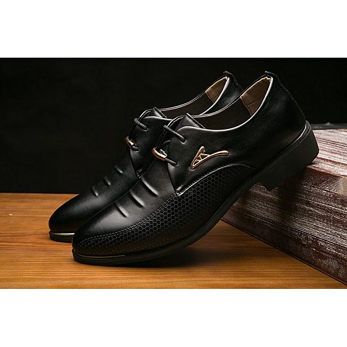 Fashion Men's leather chaussures business England cross-border autumn casual hommes chaussures dress chaussures-noir à prix pas cher    Jumia Maroc