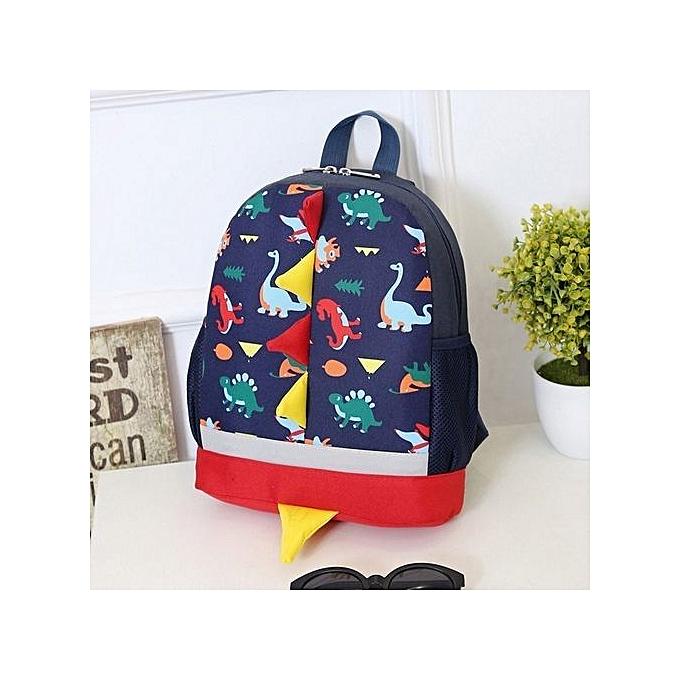 Duoya Baby Boys Girls Kids Dinosaur Pattern Animals Backpack Toddler School Bag-Dark bleu à prix pas cher