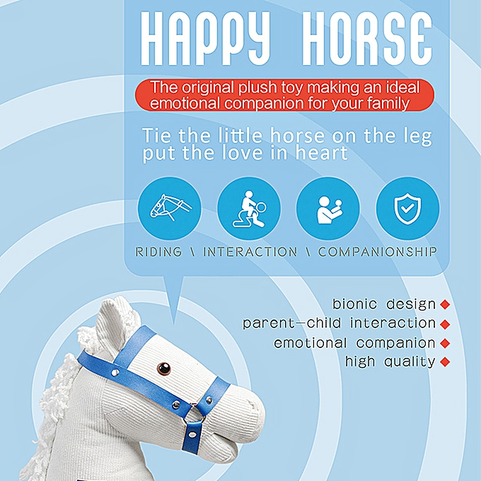 Autre Riding Horse Toy Simulated Galloping Sounds Tied on Plush Stuffed Doll for Kids Emotional Companionship Indoor and Outdoor Play à prix pas cher