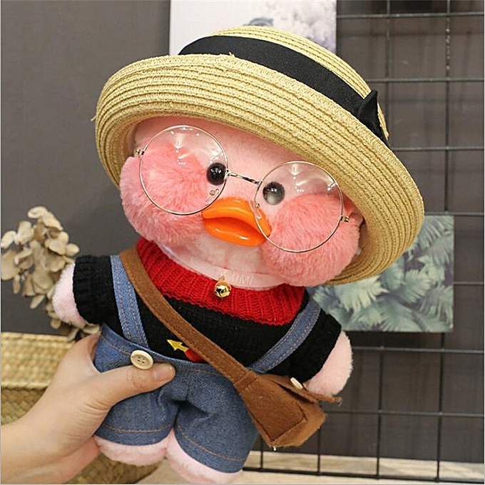 Autre 30CM rose LaLafanfan Kawaii Cafe Mimi jaune Duck Plush Toy Cute Stuffed Doll Soft Animal Dolls Enfants Toys Birthday Gift for girl(5) à prix pas cher