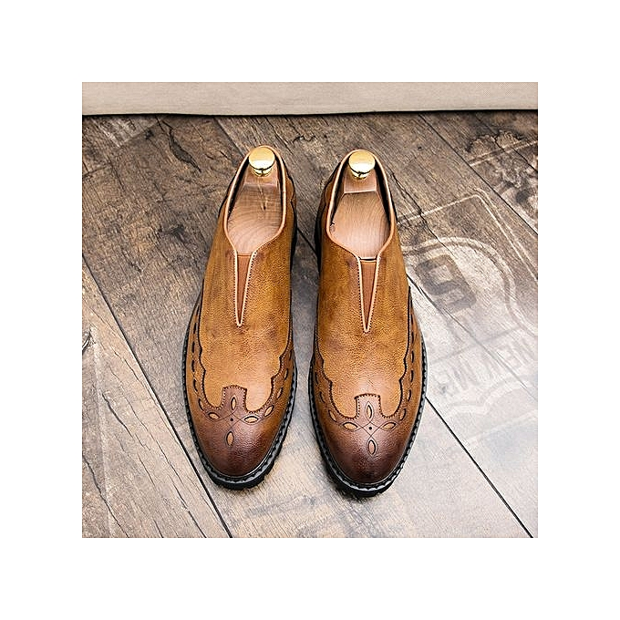 Zant Genuine Leather   Formal Shoes Shoes Formal British Style Loafers Slip-On à prix pas cher  | Jumia Maroc fb6f06