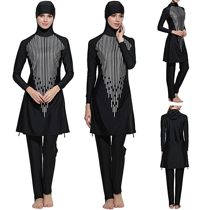 mode Hiamok femmes Lady Islamic Muslim Full Cover maillot de bain Modest plagewear Swimming Costumes à prix pas cher