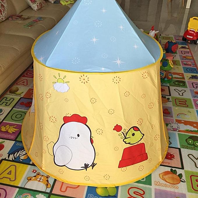 Autre Rencontre amour dessin animé poulet enfants accrocher drapeau tente tipi bébé maison de jeu princesse château à prix pas cher