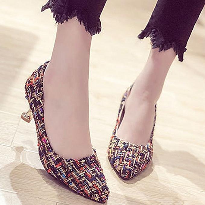 mode jiahsyc store Wohommes été Décontracté mode Couleur Woven talons hauts chaussures à prix pas cher